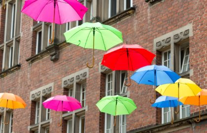 Stand out umbrella